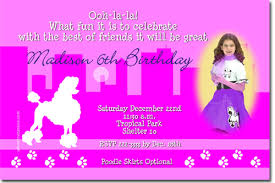 poodle in paris birthday invitations candy wrappers thank you