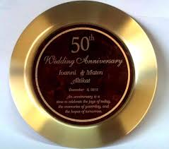 50th anniversary plates presentation plates trays platters engraved for a personalized gift