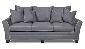 contemporary sofa contemporary sofa with block feet by klaussner wolf and gardiner