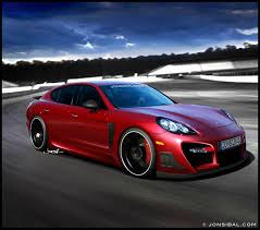 red porsche panamera tuned porsche panamera rendering by jon sibal speed freak
