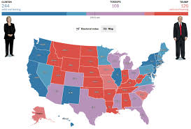 Red And Blue State Map by New Poll Shows How Clinton Trump Matchup Is Redrawing The