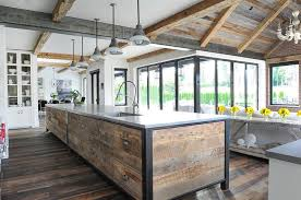 reclaimed wood kitchen island reclaimed wood planks on kitchen island transitional kitchen