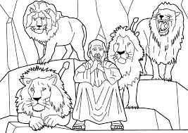 daniel and the lions den coloring page kids coloring free kids