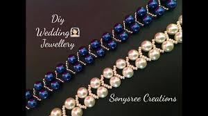 wedding jewelry pearl beaded bracelet wedding jewelry easy