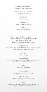 order of service u0026 wedding order of service
