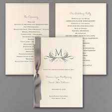 classic wedding programs classic wedding program with insert ecru programs carlson