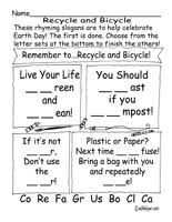 recycle activities worksheets printables and lesson plans