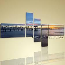 hd print seascape beach painting modern wall art abstract on canvas