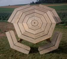 Picnic Table Plans Free Hexagon by Diy Free Octagon Picnic Table Plans With Umbrella Hole Plans Free