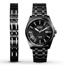 black bracelet mens watches images Citizen men 39 s watch matching bracelet bm7105 53e 281792806 kay jpg