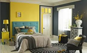 bedroom grey and yellow wall color for bright bedroom paint color
