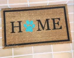 Wipe Your Paws Mat Decorative Dog Doormat Etsy