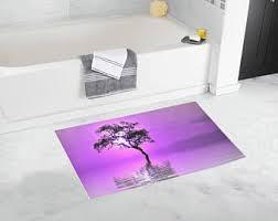 Purple Bath Rugs Bath Mat Azure Blue And White Bath Mat Striped Bath Mat