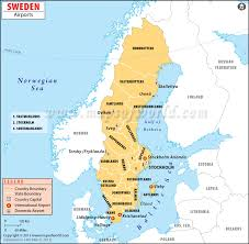 map of sweden airports in sweden sweden airports map