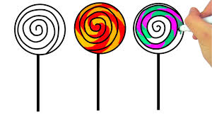 how to draw lollipop candies coloring pages sweets art colors