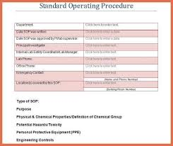 standard operating procedure examples bio example