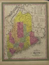 State Of Maine Map by Prints Old U0026 Rare Maine Page