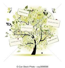 wishing tree cards wish tree floral with cards for your text clip vector search