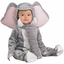 Newborn Halloween Costumes 0 3 Months Elephant Infant Jumpsuit Halloween Costume Walmart