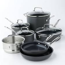 Cuisinart Dishwasher Safe Anodized Cookware Chef U0027s Classic Nonstick Hard Anodized 11 Pc Cookware Set