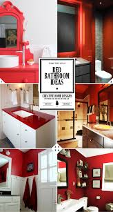 color style guide red bathroom ideas and decor accessories red