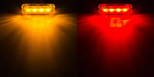 led truck marker lights rectangular led truck and trailer lights 3 3 4 pc rated led side