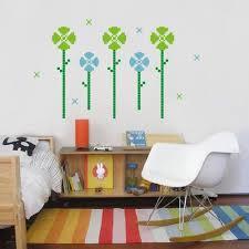 kids wall decal pixel garden vinyl wall graphics