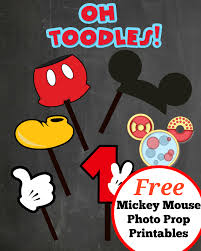 mickey mouse photo booth props free photo props mickey mouse printable templates
