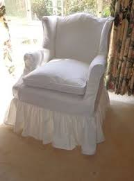 Cottage Chic Slipcovers by Shabby Round Ruffled Ottoman Slipcover By