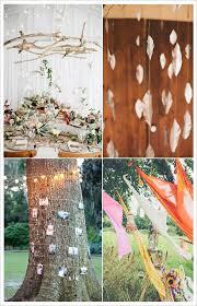 mariage boheme chic decoration salle mariage boheme bois suspendu gruilande lumineuse
