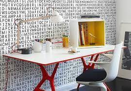 papier peint de bureau murs coin bureau paré papier peint lettré papier peint original