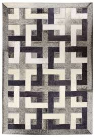 Modern Black Rug Directory Galleries Modern Leather Area Rugs