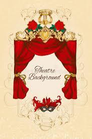 theatre sketch background stock vector image 46386683