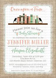 once upon a time baby shower invitations home design