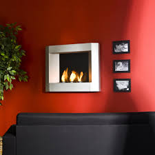amazon com sei contemporary wall mount gel fuel fireplace silver