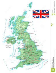 Canterbury England Map by United Kingdom Detailed Topographic Map Illustration Stock