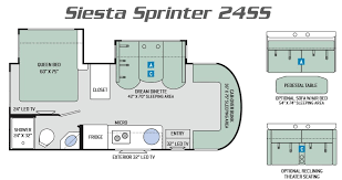 Type B Motorhome Floor Plans 2017 Siesta Class C Motorhome By Thor Motor Coach