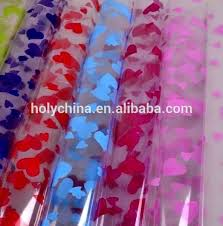 transparent wrapping paper holograhic gift wrap design plastic wrapping paper roll laser