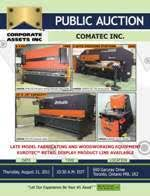 Woodworking Machinery Ontario Canada by Corporate Assets Inc Woodworking