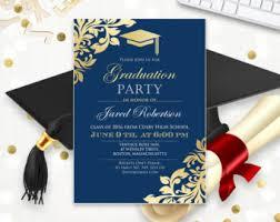 graduation invitation template graduation announcement boy printable template navy high