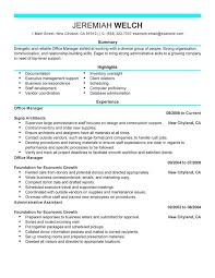 Best Project Manager Resume Office Manager Resume Examples Resume Samples Project Manager
