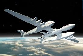 rocket for giant satellite launching stratolaunch airplane remains