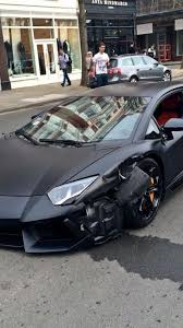 crashed lamborghini matte black lamborghini aventador collides with bmw 320d in london