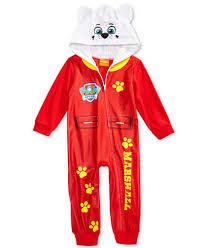 paw patrol marshall hooded pajamas toddler boys 2t 5t pajamas