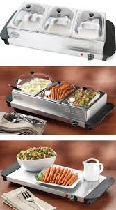 Buffet Server With Warming Tray by Stainless Steel Buffet Server U0026 Food Warmer Tray 3 Station Heated