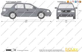 Ford Freestyle Car The Blueprints Com Vector Drawing Ford Freestyle