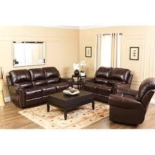 3 piece sofa set abbyson lexington dark burgundy italian leather reclining loveseat