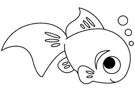 cute fish coloring free printable coloring pages kids