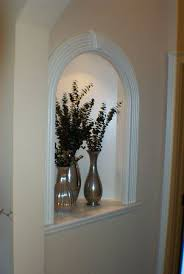 Staggering Recessed Wall Niche Decorating Ideas With 5 Interior