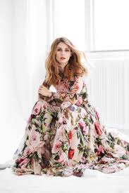 olivia palermo in spring look floral dress dolce cool chic